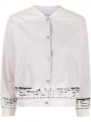 Куртка-бомбер Sports Line 2004-го года Chanel Pre-Owned. Цвет: розовый
