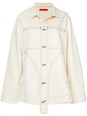 Джинсовая куртка свободного кроя ECKHAUS LATTA. Цвет: желтый