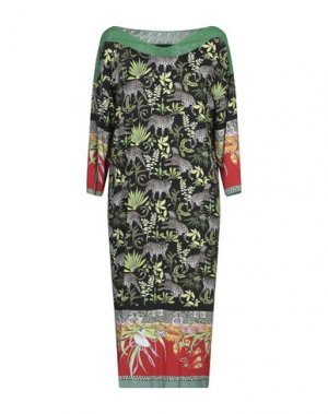 Платье до колена DANIELA DREI. Цвет: зеленый