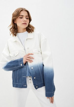 Куртка джинсовая VASSA&Co. PIN CODE. Цвет: синий
