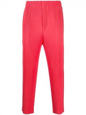 Плиссированные брюки Homme Plissé Issey Miyake. Цвет: розовый