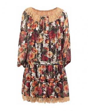 Короткое платье ANNA SUI. Цвет: абрикосовый
