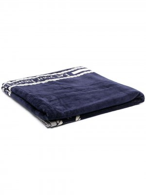 Пляжное полотенце с логотипом Marlies Dekkers. Цвет: синий