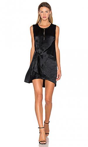 Драпированное платье с узлом McQ Alexander McQueen. Цвет: черный