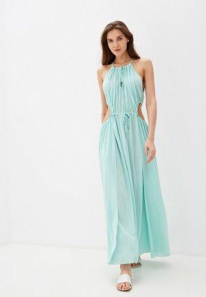 Платье пляжное Donatello Viorano. Цвет: бирюзовый