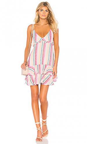 Мини майка-платье martina Rails. Цвет: розовый
