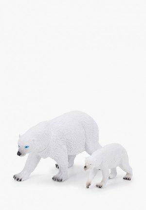Набор игровой Играем Вместе Мамы и малыши. Белый медведь медвежонок. Цвет: белый
