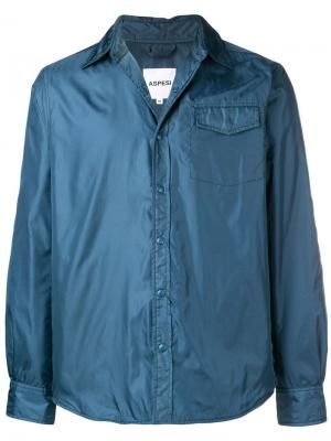 Легкая куртка-рубашка Aspesi. Цвет: синий