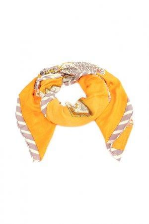 Платок F.FRANTELLI. Цвет: серый,оранжевый,салатовый