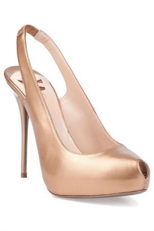 Туфли ERNESTO ESPOSITO. Цвет: коричневый