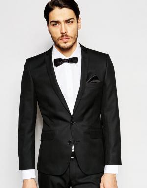 Однотонный пиджак Ben Sherman. Цвет: черный