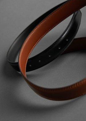 Кожаный ремень - Basico Mango. Цвет: коричневый