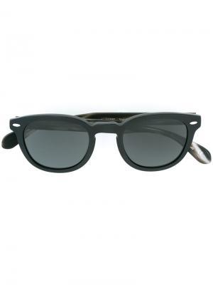 Солнцезащитные очки Sheldrake Oliver Peoples. Цвет: черный
