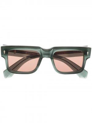 Солнцезащитные очки в квадратной оправе Jacques Marie Mage. Цвет: серый
