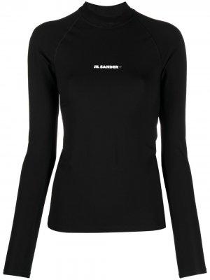 Топ для плавания с логотипом Jil Sander. Цвет: черный