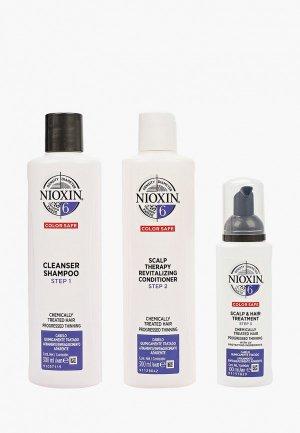 Набор для ухода за волосами Nioxin система 6: шампунь (300 мл), кондиционер маска (100 мл). Цвет: прозрачный