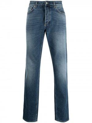 Прямые джинсы с логотипом Givenchy. Цвет: синий