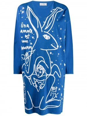 Платье-джемпер 1980-х годов JC de Castelbajac Pre-Owned. Цвет: синий