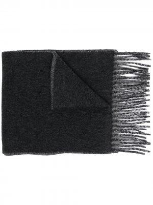 Шарф с графичным принтом Vivienne Westwood. Цвет: серый