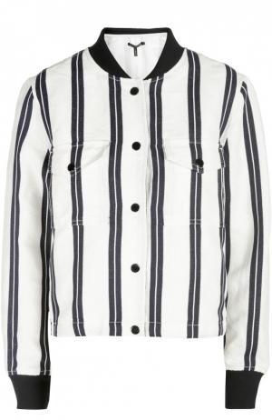 Джинсовая куртка Rag&Bone. Цвет: черно-белый