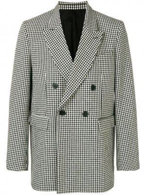 Двубортный пиджак оверсайз AMI Paris. Цвет: черный