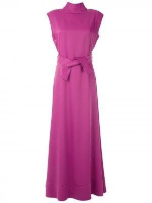 Длинное платье с поясом Gloria Coelho. Цвет: розовый