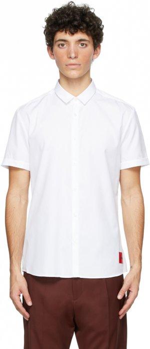 White Empson Short Sleeve Shirt Hugo. Цвет: 199 open white
