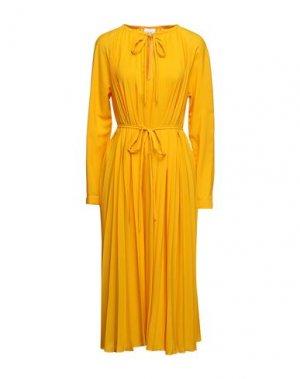 Платье миди ALYSI. Цвет: охра