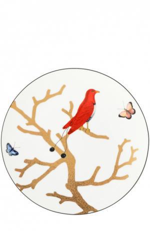 Тарелка Aux Oiseaux Bernardaud. Цвет: бесцветный