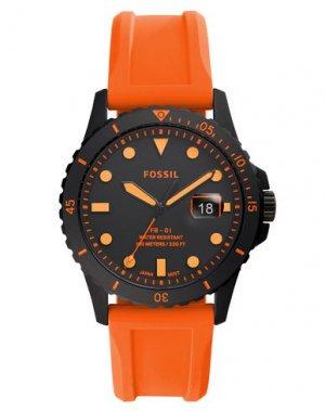 Наручные часы FOSSIL. Цвет: оранжевый