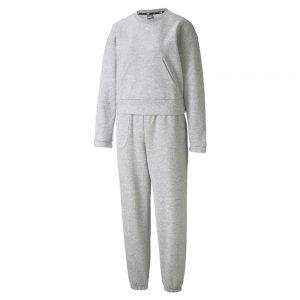 Спортивный костюм Loungewear Womens Tracksuit PUMA. Цвет: серый