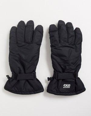 Черные горнолыжные перчатки -Черный ASOS 4505