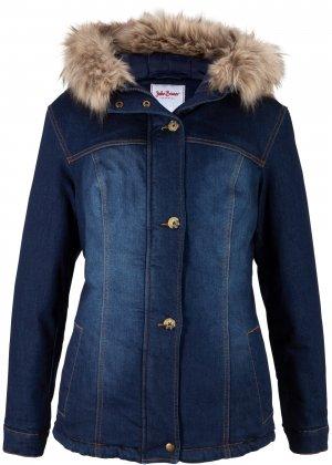 Куртка из переработанного денима bonprix. Цвет: синий