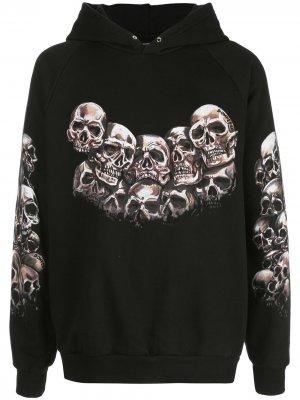 Худи Heads Skull с принтом DOMREBEL. Цвет: черный
