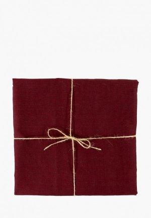 Скатерть Tkano 143х250. Цвет: бордовый