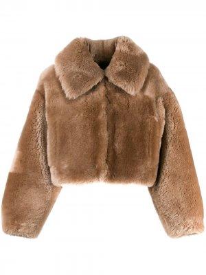 Куртка-бомбер Teddy Blancha. Цвет: нейтральные цвета