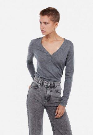 Пуловер Lime. Цвет: серый