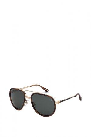 Очки солнцезащитные Dunhill. Цвет: черный