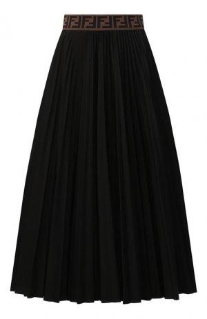 Юбка-миди Fendi. Цвет: черный