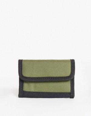 Зеленый бумажник на липучке -Зеленый цвет SVNX