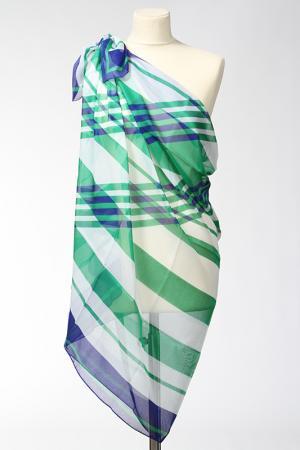 Парео F.FRANTELLI. Цвет: белый, зелень, синий