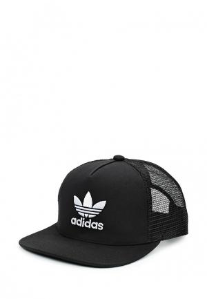 Бейсболка adidas Originals TREFOIL TRUCKER. Цвет: черный