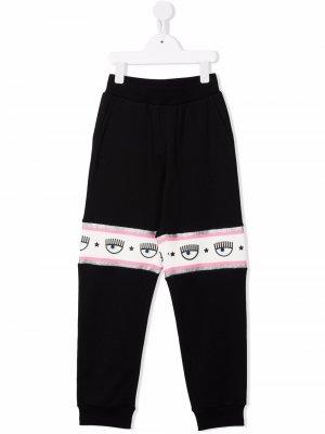 Спортивные брюки из коллаборации с Chiara Ferragni Kids. Цвет: черный