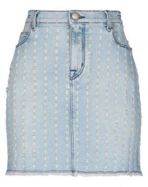 Джинсовая юбка JACOB COHЁN. Цвет: синий