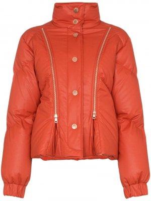 Куртка-пуховик с молниями See by Chloé. Цвет: оранжевый