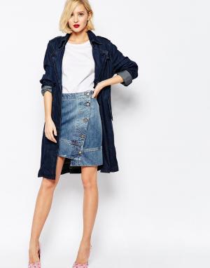 Джинсовая куртка‑юбка с потертостями из переработанного денима Vivienn Vivienne Westwood