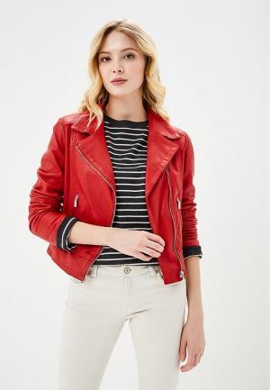 Куртка кожаная Arma Katherine. Цвет: красный