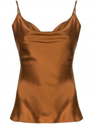 Cowl neck satin camisole Nicholas. Цвет: коричневый