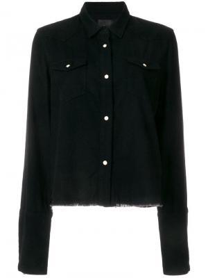 Джинсовая куртка с необработанным подолом Rta. Цвет: черный
