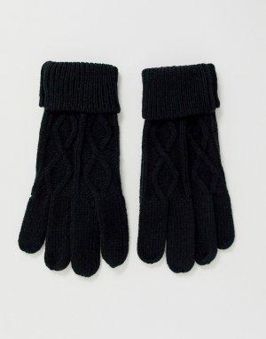 Черные вязаные перчатки -Черный Boardmans
